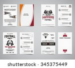 american football party back... | Shutterstock .eps vector #345375449