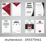 american football party back... | Shutterstock .eps vector #345375461