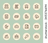 travel web icons set | Shutterstock .eps vector #345376694