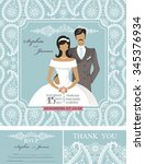 wedding invitation cards set... | Shutterstock .eps vector #345376934