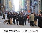 new york city   november 26... | Shutterstock . vector #345377264