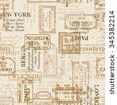 vintage street signs vector...   Shutterstock .eps vector #345382214