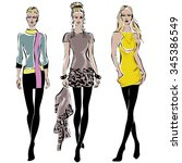 Fashion Models In Sketch Style...