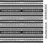 seamless pattern. floral folk... | Shutterstock .eps vector #345401405