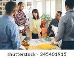 start up business. group of... | Shutterstock . vector #345401915