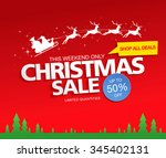 christmas sale. vector...