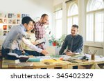start up business. group of... | Shutterstock . vector #345402329