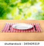 plate. | Shutterstock . vector #345409319