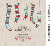 christmas card with christmas...   Shutterstock .eps vector #345409379