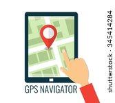 navigation application on... | Shutterstock .eps vector #345414284