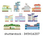 modern town house cottage and... | Shutterstock .eps vector #345416207