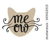 hand lettering typography... | Shutterstock .eps vector #345423515
