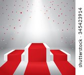 illuminated stage podium with...   Shutterstock .eps vector #345423914