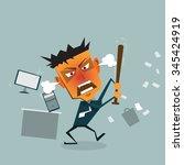 vector cartoon business man... | Shutterstock .eps vector #345424919