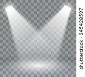 spotlights scene light effects. ... | Shutterstock .eps vector #345428597