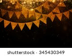 garland party background | Shutterstock . vector #345430349