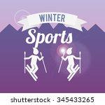 winter sports design  vector...   Shutterstock .eps vector #345433265