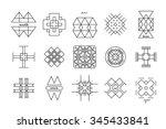 set of minimal geometric... | Shutterstock .eps vector #345433841