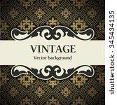 vintage vector background   Shutterstock .eps vector #345434135