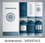 vintage islamic style brochure... | Shutterstock .eps vector #345437411