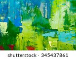 hand drawn oil painting.... | Shutterstock . vector #345437861