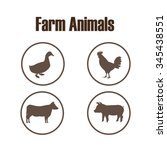farm animals design  vector... | Shutterstock .eps vector #345438551