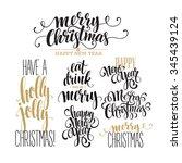 merry christmas lettering...   Shutterstock . vector #345439124