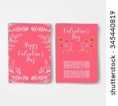valentines day template.... | Shutterstock .eps vector #345440819