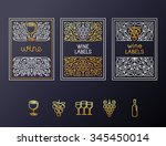 vector set of design elements... | Shutterstock .eps vector #345450014