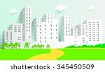 city   Shutterstock .eps vector #345450509