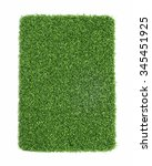 artificial grass isolated on... | Shutterstock . vector #345451925
