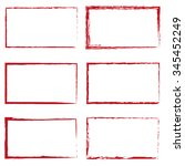 set of six red rectangles | Shutterstock .eps vector #345452249