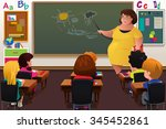 a vector illustration of... | Shutterstock .eps vector #345452861