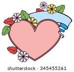 valentine frame in shape of... | Shutterstock .eps vector #345455261