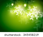 Holiday Green Abstract...