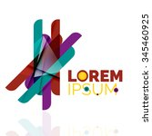 logo  abstract geometric...   Shutterstock .eps vector #345460925
