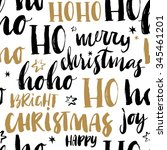 merry christmas hand drawn... | Shutterstock .eps vector #345461201