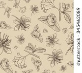 vector seamless floral pattern... | Shutterstock .eps vector #345462089