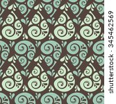 swirl drop seamless pattern... | Shutterstock .eps vector #345462569