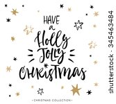 have a holly jolly christmas ... | Shutterstock .eps vector #345463484