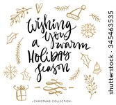 wishing you a warm holiday... | Shutterstock .eps vector #345463535