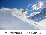 skier skiing downhill in high... | Shutterstock . vector #345468539