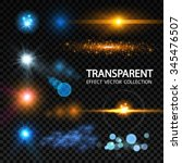 lens flare set. shining... | Shutterstock .eps vector #345476507