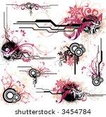 floral design elements | Shutterstock .eps vector #3454784