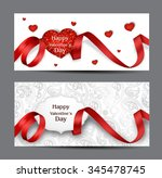 beautiful valentine's day cards ... | Shutterstock .eps vector #345478745