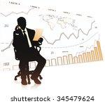 silhouette of businessman in... | Shutterstock .eps vector #345479624