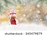 christmas background with... | Shutterstock . vector #345479879