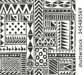 vector seamless tribal pattern. ... | Shutterstock .eps vector #345480569