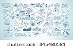 business doodles sketch set  ... | Shutterstock . vector #345480581