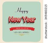 happy new year vector... | Shutterstock .eps vector #345483215